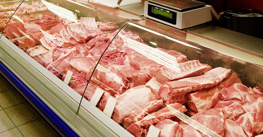 Angebot an der Fleischtheke
