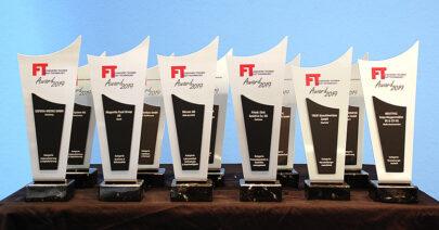 FT und FH Awards Trophaeen