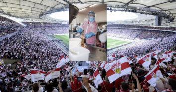 Stadionrote VfB Stuttgart Aramark Wursttueftlertag